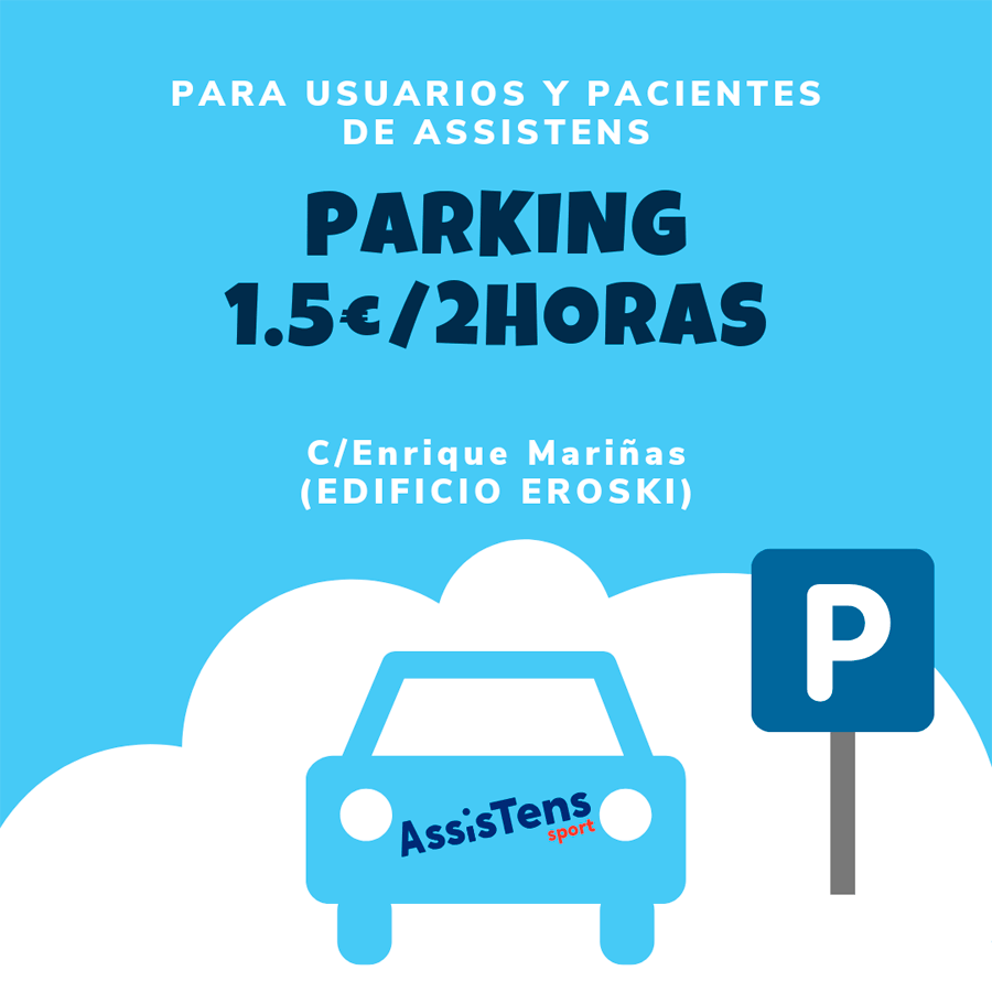 bono parking clientes Assistens Sport